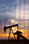American Oil Wells Posters - American Oil 2 Poster by James Bo Insogna