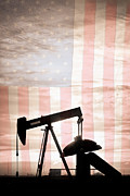 American Oil Wells Posters - American Oil Well Poster by James Bo Insogna