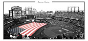 Shea Stadium Photo Framed Prints - American Pastime Framed Print by Ed Burczyk