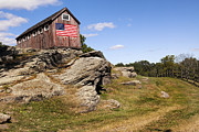 Old Barn Posters - American Patriot Poster by Bill  Wakeley
