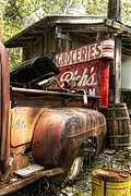 Cave Wall Prints - American Pickers Print by Peter Chilelli