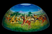 Painted Glass Art - American Plains Art by Mikael  Darni