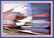 Red White And Blue Mixed Media - American Rail by Steve Ohlsen