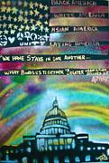 American Rainbow Print by Tony B Conscious