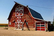 Planet Factory Framed Prints - American Red Barn  Framed Print by Lanjee Chee