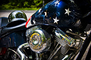 Stars And Stripes Photo Posters - American Ride Poster by Adam Romanowicz