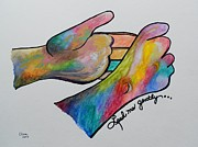 Asl Prints - American Sign Language ... ASL ... Lead Me Gently Print by Eloise Schneider