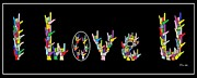 Colorful Art - American Sign Language I LOVE U   by Eloise Schneider