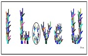 American Sign Language I Love You On White Print by Eloise Schneider