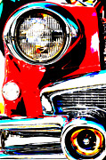 Steel Mixed Media Framed Prints - American Steel - Car 1 Framed Print by AdSpice Studios