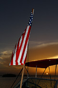 U S Flag Originals - American Sunset in Cuba by Christian Schroeder