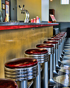 Stools Prints - Americana - 1950s Diner Print by Paul Ward