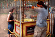 Cart Photos - Americana - Candy - Getting cotton candy  by Mike Savad