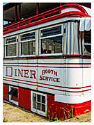 Counter Framed Prints - Americana Classic Dinner Booth Service Framed Print by Edward Fielding