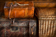 Luggage Framed Prints - Americana - Emotional baggage  Framed Print by Mike Savad