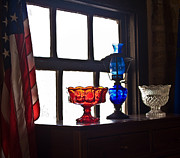 Oil Lamp Prints - Americana Print by Guillermo Rodriguez