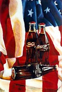 Bottled Painting Posters - Americana Poster by JAXINE Cummins