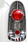 Chrome Mixed Media Prints - Americana Tail Light in White and chrome Print by AdSpice Studios