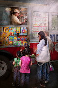 Girls Photos - Americana - Vendor - Serving chocolate ice cream by Mike Savad