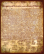 Facsimile Prints - Americas Declaration of Independence  Print by Li   van Saathoff