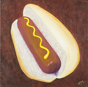 Hot Dog Posters - Americas Favorite Dog Poster by Garry McMichael