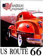 Memories Drawings Prints - Americas Highway - Route 66 Print by Pg Reproductions