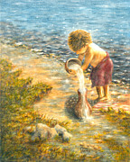 Child Jesus Paintings - Americas Hope by Ramona Martin