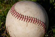 Baseball Closeup Photo Metal Prints - Americas Pastime - Baseball Metal Print by David Patterson