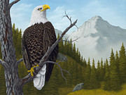 Raptor Paintings - Americas Pride by Rick Bainbridge