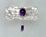 Brooch Jewelry - Amethyst Caverns by Laura Wilson