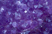Brilliancy Framed Prints - Amethyst Crystal Stone Detail Framed Print by Pablo Romero