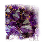 Fine Jewelry Posters - Amethyst Crystals. Elegant KnickKnacks from Jenny Rainbow Poster by Jenny Rainbow