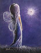 Amethyst Fairy By Shawna Erback Print by Shawna Erback