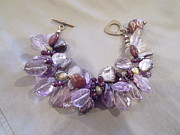 Featured Jewelry - Amethyst jasper chunky bracelet by Jan Durand