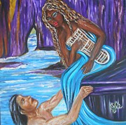 Lovers Paintings - Amethyst - The Siren by Yesi Casanova