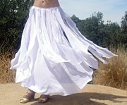 Dance Tapestries - Textiles Posters - Ameynra design white chiffon skirt Poster by Ameynra Fashion