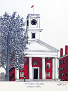 College Buildings Images Originals - Amherst College by Frederic Kohli