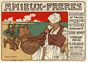 Belle Epoque Framed Prints - Amieux Freres Framed Print by Sanely Great