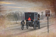 Horse And Buggy Prints - Amish Buggy and Heritage Trail Print by David Arment