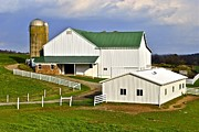 Gravel Road Framed Prints - Amish Country Barn Framed Print by Robert Harmon