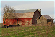 Fuad Azmat Prints - Amish Farm and Barn Print by Fuad Azmat