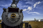 Amish Photographs Posters - Amish farmland and Brilliant Blue sky frame #475 Steam Engine - Strasburg RR   02 Poster by Mark Serfass