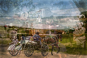 Horse And Buggy Posters - Amish Market Day Blur Poster by Randall Branham