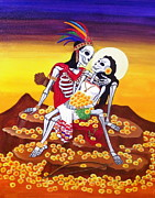Aztec Paintings - Amor Eterno by Evangelina Portillo
