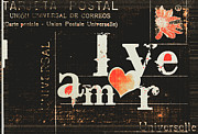 Postcard Mixed Media - Amor - Love by Anahi DeCanio