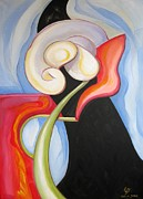 Artdeco Paintings - Amour et Espoir by Coco DE JARDIN