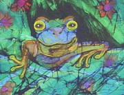Fine Art Batik Framed Prints - Amphibia III Framed Print by Kay Shaffer