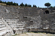 Outdoor Theater Framed Prints - Amphitheater Ephesus Ruins Framed Print by Christiane Schulze
