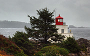 Bc Coast Posters - Amphitrite Lighthouse Poster by Randy Hall
