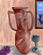 Grapes Photo Originals - Amphora  by Carol  Eliassen